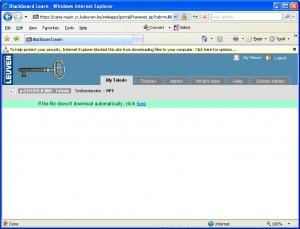 Na het sluiten van de bovenvermelde waarschuwing verschijnt er een alternatieve manier om het bestand te downloaden