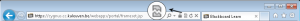 Een icoon van een gebroken blad bovenaan in IE duid erop dat er een probleem met Toledo en IE9