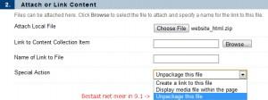 Optie 'Unpackage this file' is niet meer aanwezig in 9.1