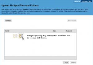 Je kan terug meerdere bestanden tegelijk opladen