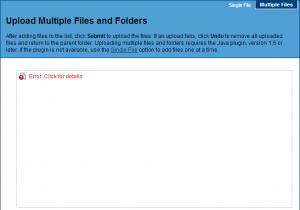 Error op pagina voor multiple=
