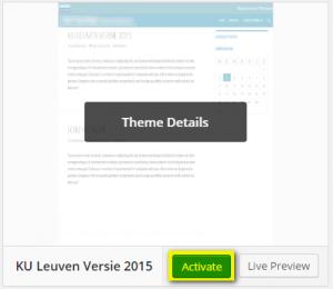 Activeer het thema KU Leuven Versie 2015